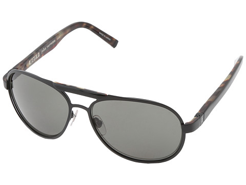 John Varvatos - V758 (Black) Metal Frame Fashion Sunglasses