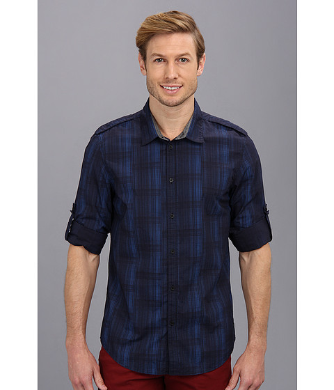 Calvin Klein Jeans - L/S Dot Print (Eternal Navy) Men's Long Sleeve Button Up