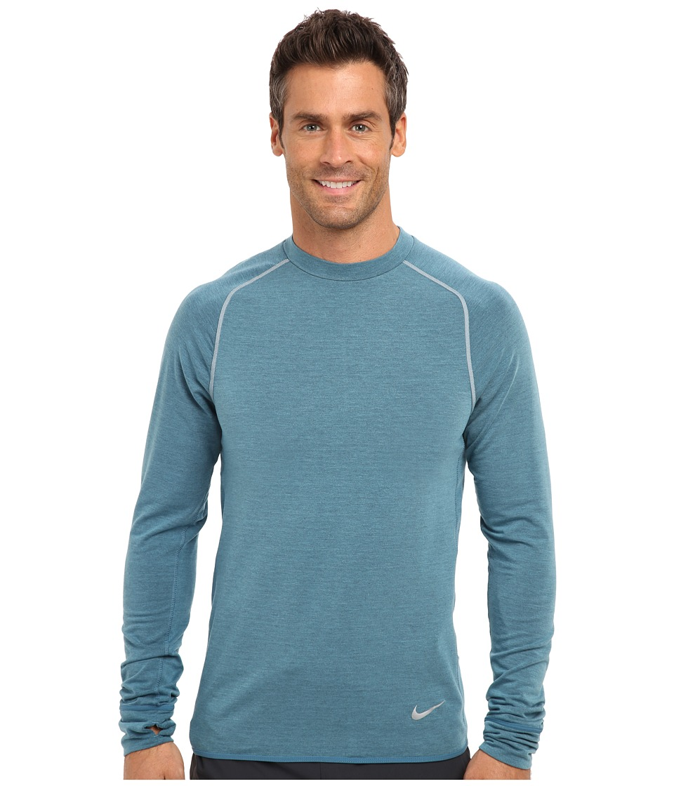 Nike - Dri-Fit Sprint Crew (Rift Blue/Space Blue/Reflective Silver) Men's Long Sleeve Pullover