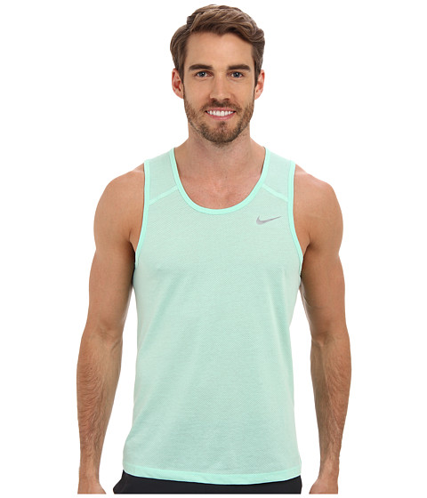 Nike - Dri-Fit Touch Tailwind Tank (Medium Mint/Space Blue/Reflective Silver) Men