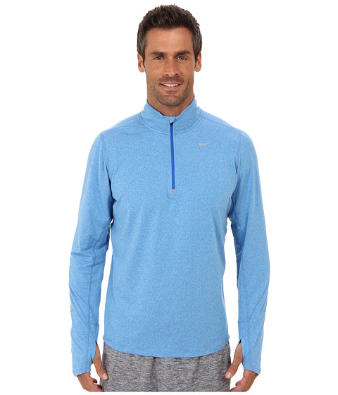Nike - Element Half-Zip (Photo Blue/Heather/Hyper Cobalt/Reflective Silver) Men's Long Sleeve Pullover