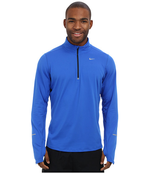 Nike - Element Half-Zip (Hyper Cobalt/Dark Obsidian/Reflective Silver) Men's Long Sleeve Pullover