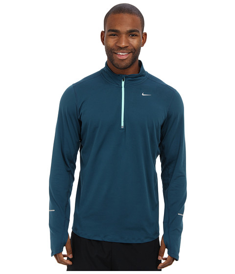 Nike - Element Half-Zip (Space Blue/Medium Mint/Reflective Silver) Men