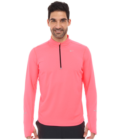 Nike - Element Half-Zip (Hyper Punch/Black/Reflective Silver) Men's Long Sleeve Pullover
