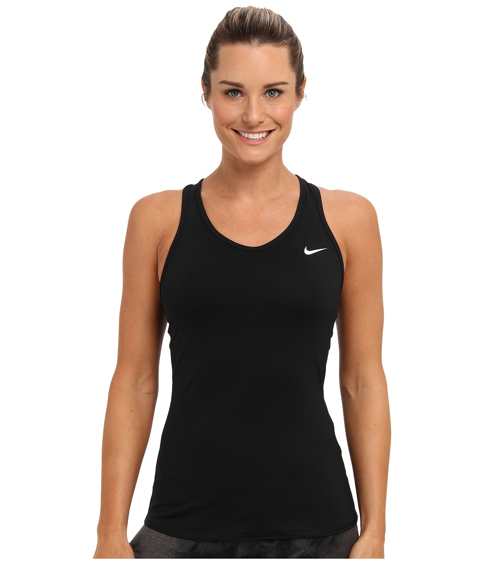 Nike - Advantage Court Tank (Black/Black/White Multi Snake) Women's Workout