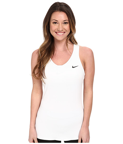 Nike - Advantage Court Tank (White/White/Black) Women's Workout