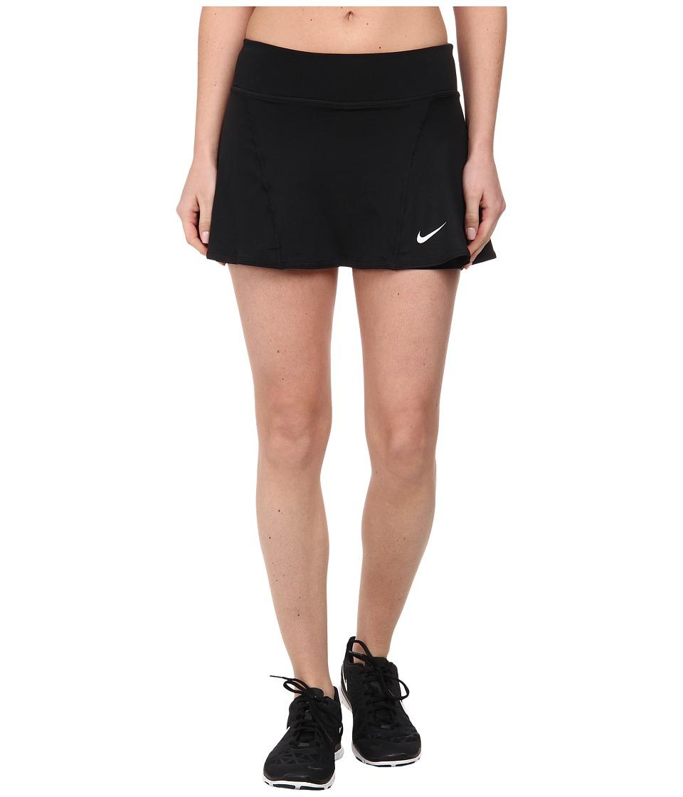 Nike - Flouncy Knit Skort (Black/White) Women's Skort