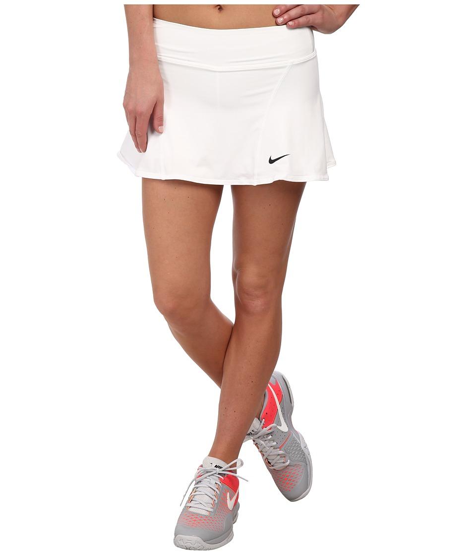 Nike Flouncy Knit Skort (White/Black) Women