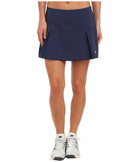 Nike - Victory Court Skirt (Midnight Navy/Matte Silver) Women