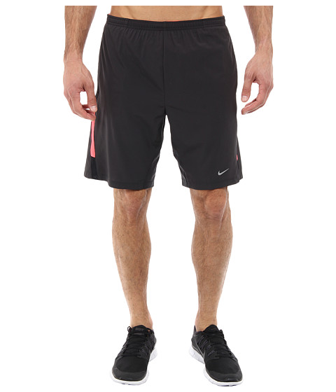 Nike - 9 Distance Short (Dark Ash/Hyper Punch/Black/Reflective Silver) Men