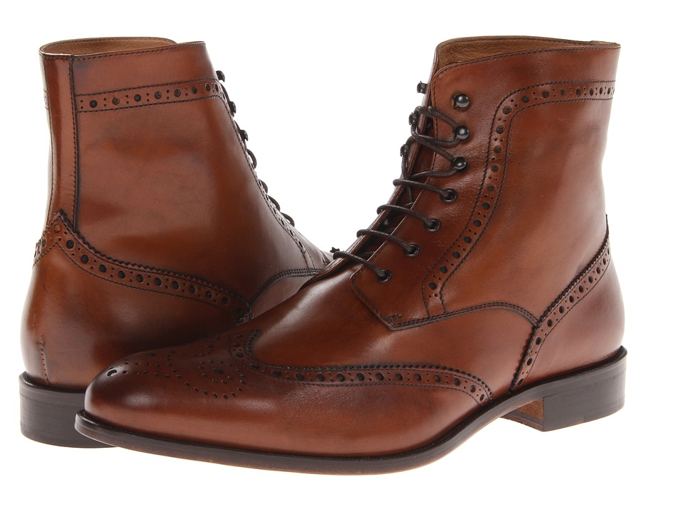 Massimo Matteo - 7-Eye Wing Boot (Brandy) Men's Shoes