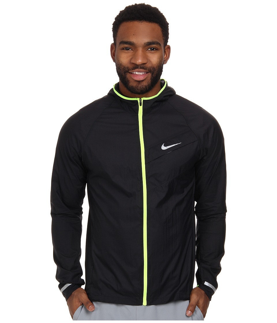 Nike - Impossibly Light Jacket (Black/Volt/Reflective Silver) Men