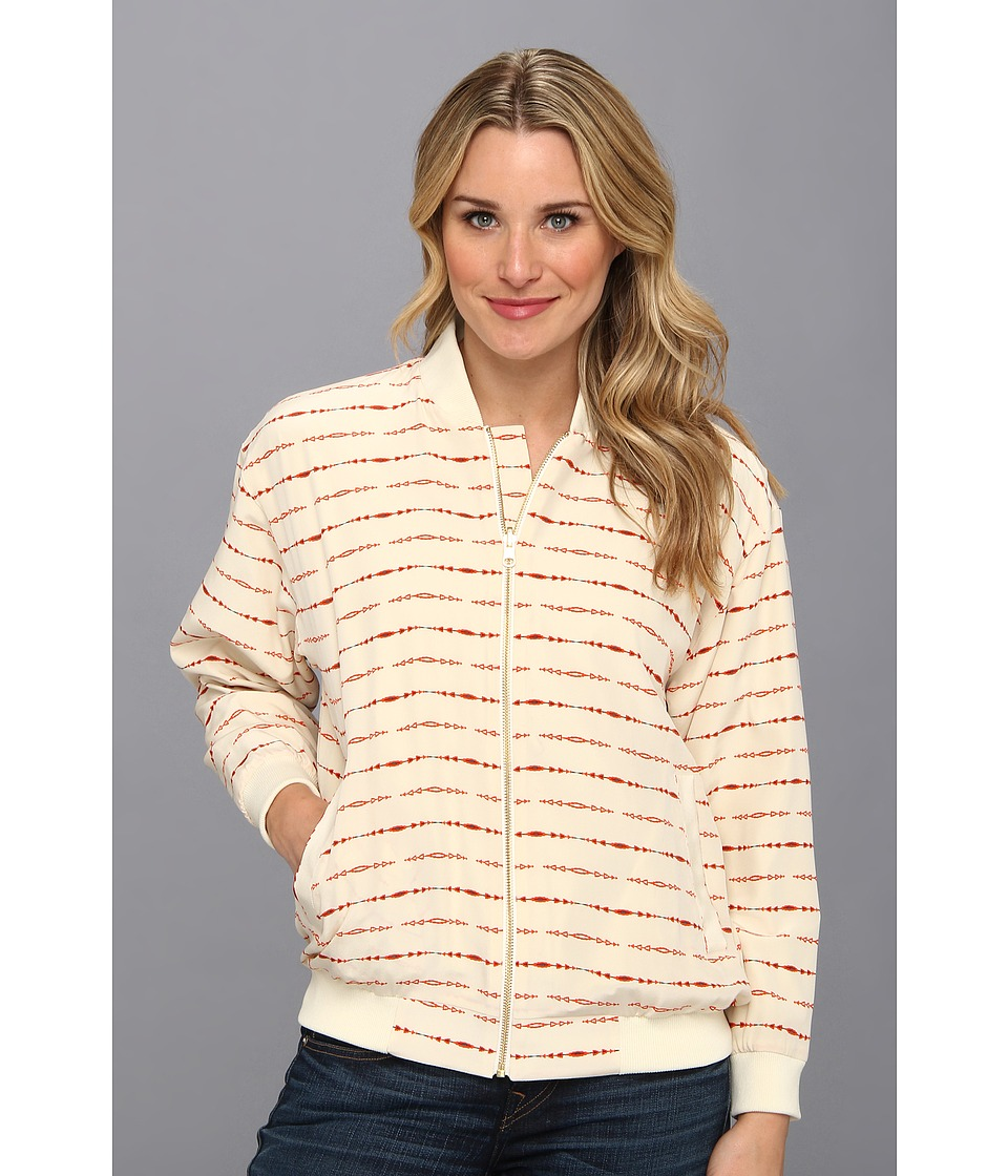 The Portland Collection by Pendleton - Oregon Dunes Windbreaker (Cream Longbow Silk) Women's Coat