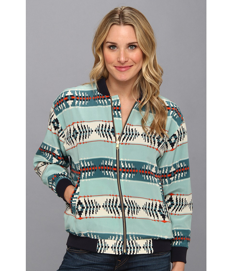 The Portland Collection by Pendleton - Oregon Dunes Windbreaker (Aqua God's Eye Silk) Women's Coat