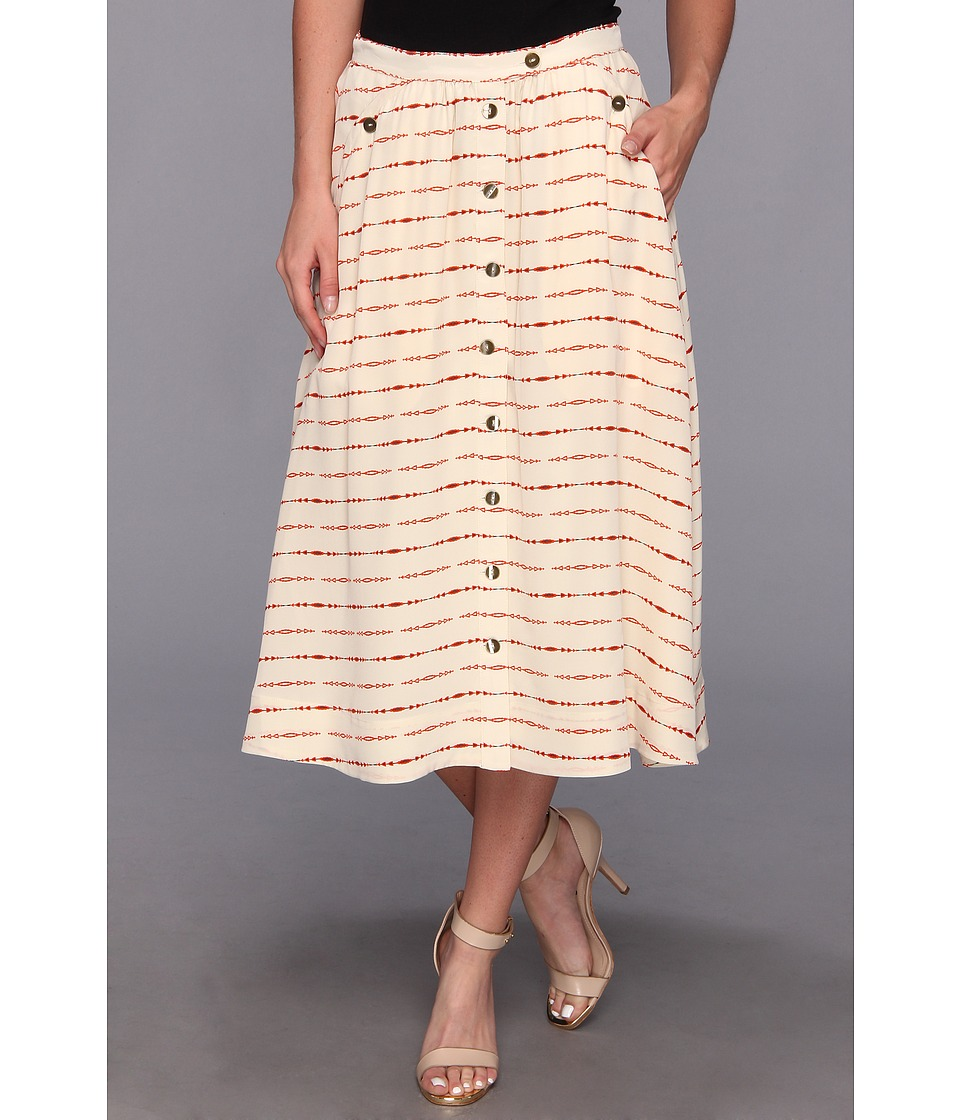 The Portland Collection by Pendleton - McKenzie Bridge Skirt (Cream Longbow Silk) Women
