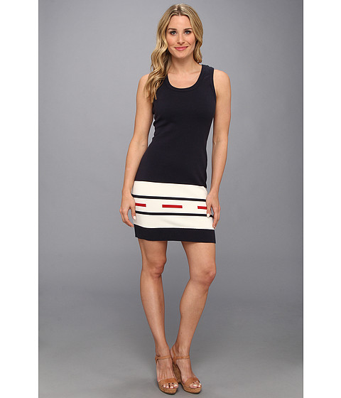The Portland Collection by Pendleton - Camp Stripe Knit Dress (Navy Camp Stripe) Women's Dress