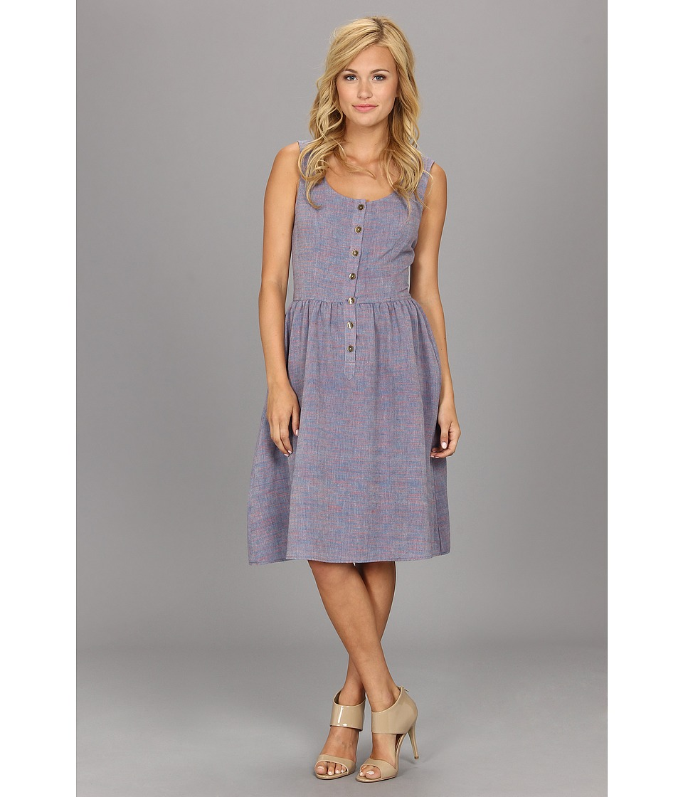The Portland Collection by Pendleton - Ukiah Dress (Blue/Red Khadi) Women's Dress