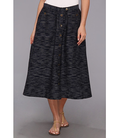 The Portland Collection by Pendleton - McKenzie Bridge Skirt (Navy/Cream Khadi) Women