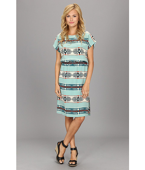 The Portland Collection by Pendleton - Islet Dress (Aqua God's Eye Silk) Women's Dress