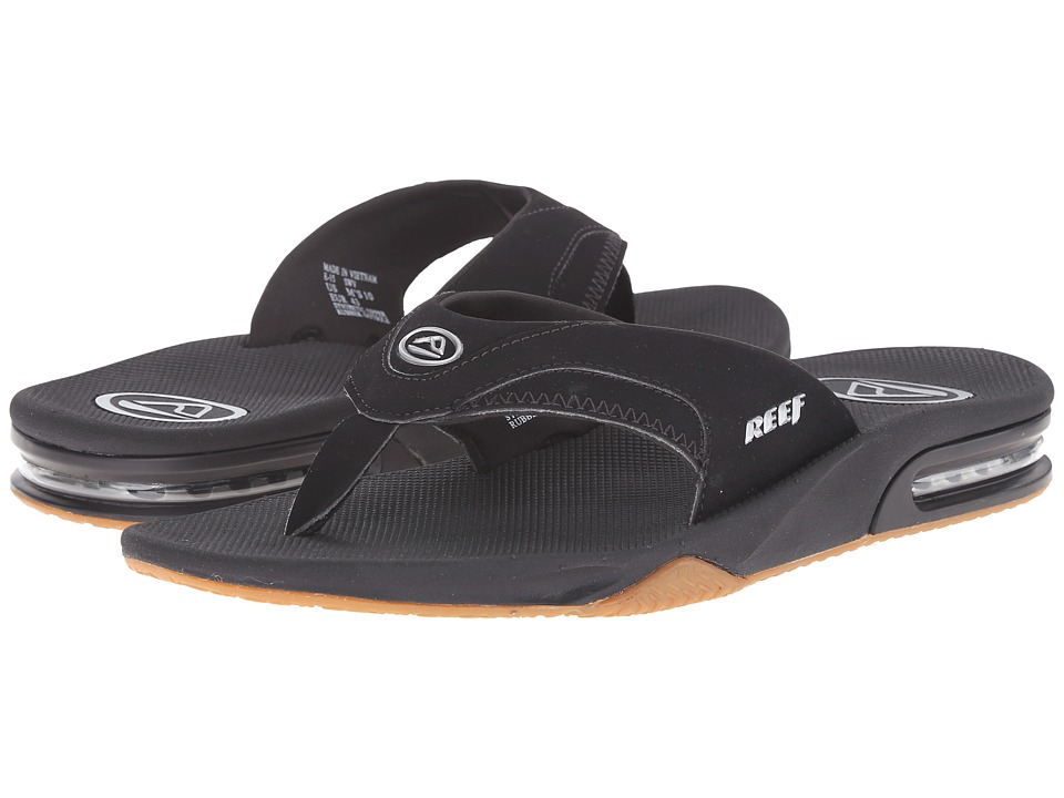 Reef - Fanning (Black/Silver) Men