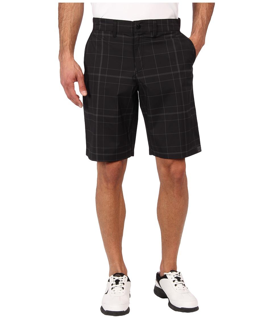 Cinch - Cinch Athletic Plaid Golf Shorts (Black) Men
