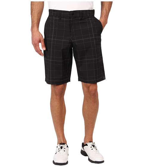 Cinch - Cinch Athletic Plaid Golf Shorts (Black) Men