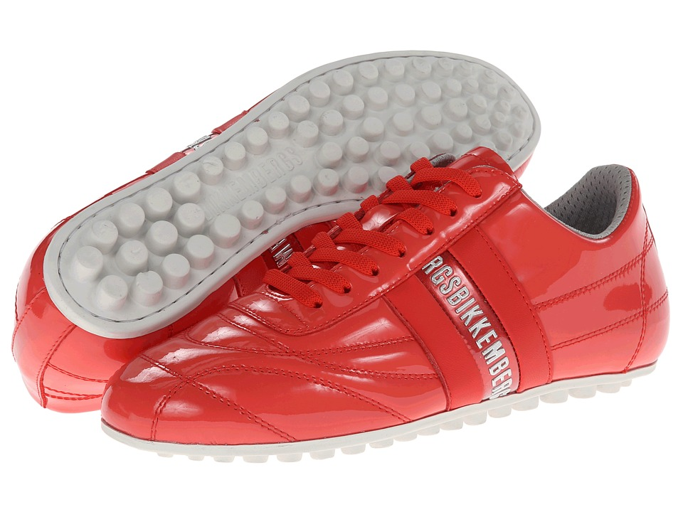 Bikkembergs - Logo Sneaker Lace Up BKE106822 (Coral Patent) Women's Lace up casual Shoes