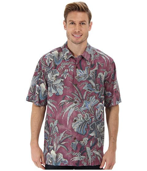 Tommy Bahama - Botanica Bay S/S Camp Shirt (Deep Rose) Men