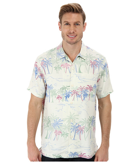 Tommy Bahama - Island Modern Fit Palm Selleck S/S Camp Shirt (Continental) Men