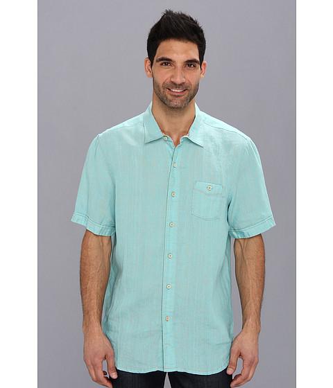 Tommy Bahama - Island Modern Fit Party Breezer S/S Woven (Aqua Blue) Men