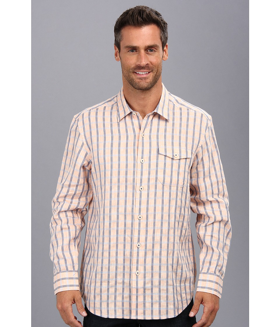 Tommy Bahama - Island Modern Fit Seaport Square L/S Shirt (Sunset) Men's Long Sleeve Button Up