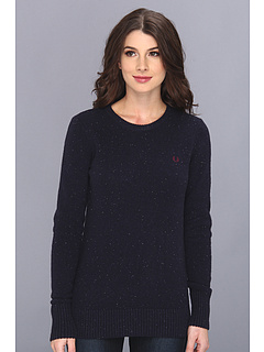 SALE! $64.99 - Save $105 on Fred Perry Donegal Tweed Knit Sweater (Blue Granite Tweed) Apparel - 61.77% OFF $170.00