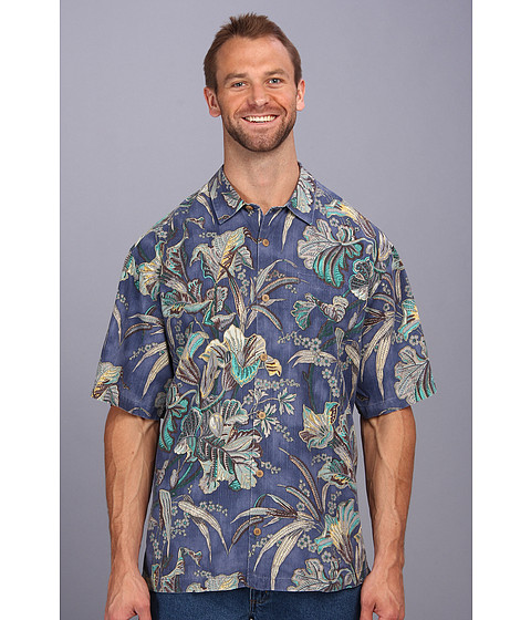 Tommy Bahama Big & Tall - Big Tall Botanica Bay Camp Shirt (Light Royal Sea) Men