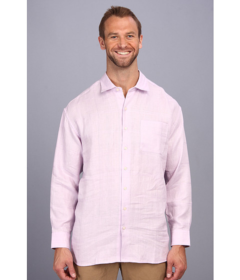Tommy Bahama Big & Tall - Big Tall Monte Carlo L/S Button Up (Pale Lavender) Men