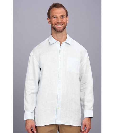 Tommy Bahama Big & Tall - Big Tall Monte Carlo L/S Button Up (Blue Fluff) Men's Long Sleeve Button Up