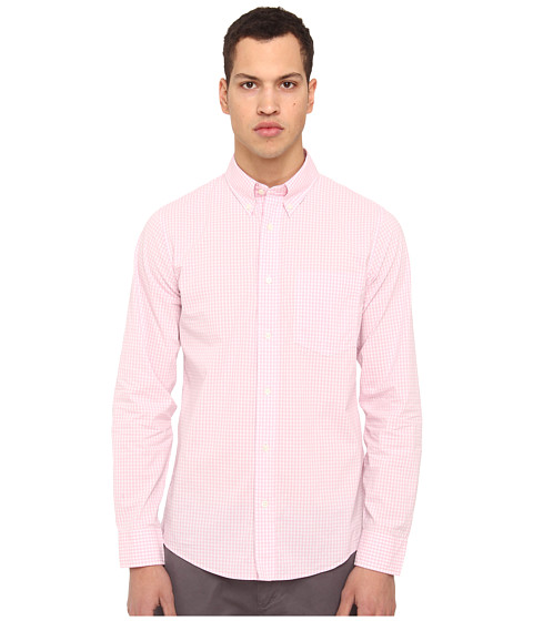 Jack Spade - Ernest Gingham Shirt (Pink) Men's Long Sleeve Button Up