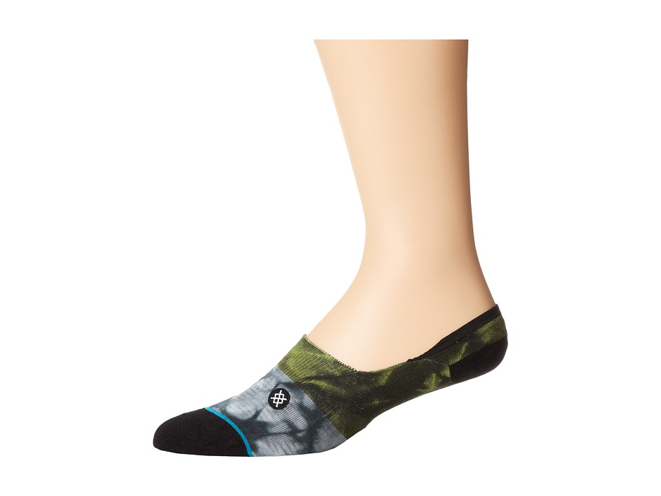 Stance - Split Tie (Green) Men's No Show Socks Shoes