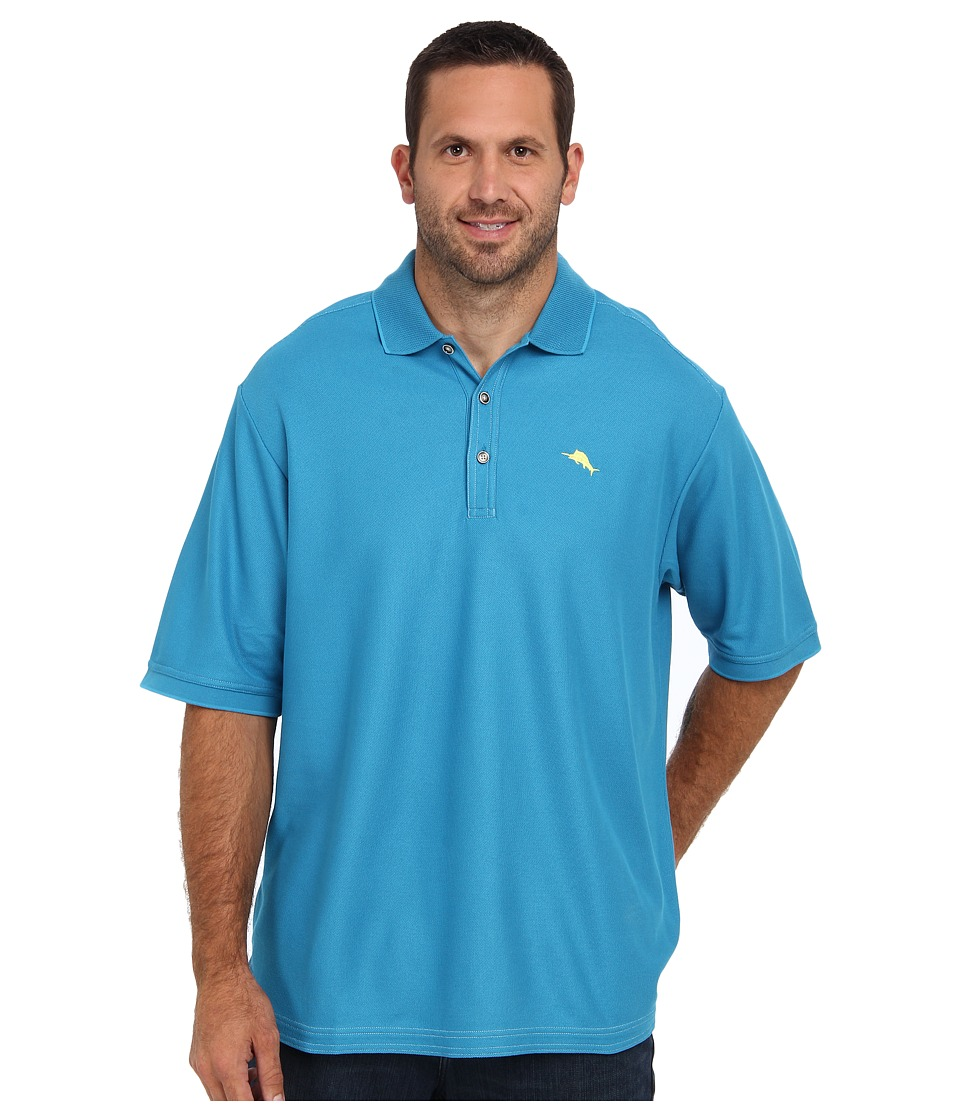 Tommy Bahama Big & Tall - Big Tall Emfielder Polo Shirt (Voyager Blue) Men's Short Sleeve Pullover