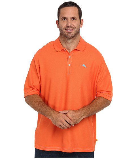 Tommy Bahama Big & Tall - Big Tall Emfielder Polo Shirt (Orange Blast) Men