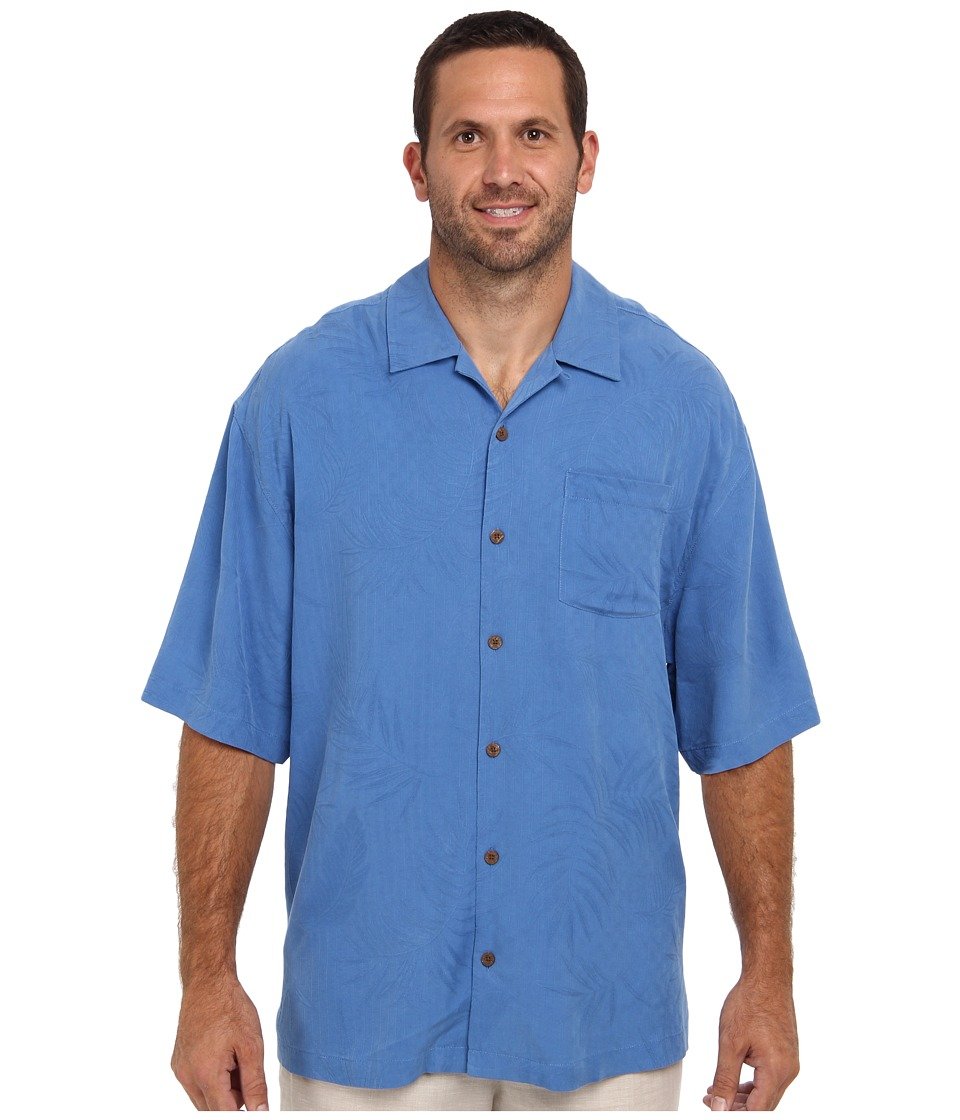 Tommy Bahama Big & Tall - Big Tall Tiki Palms S/S Shirt (Light Royal) Men's Short Sleeve Button Up