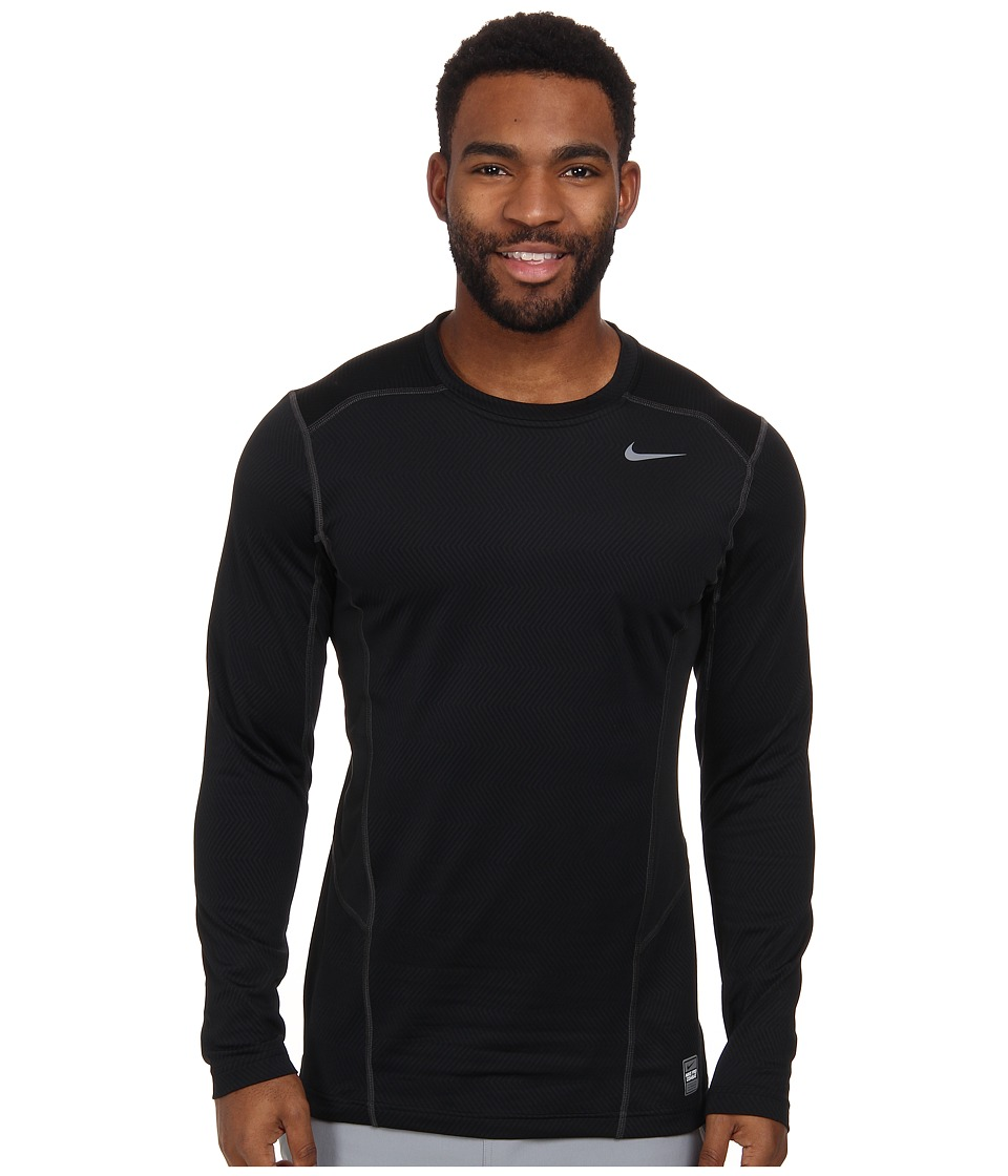 Nike - Hyperwarm Lite Fitted L/S Crew (Black/Cool Grey/Cool Grey) Men
