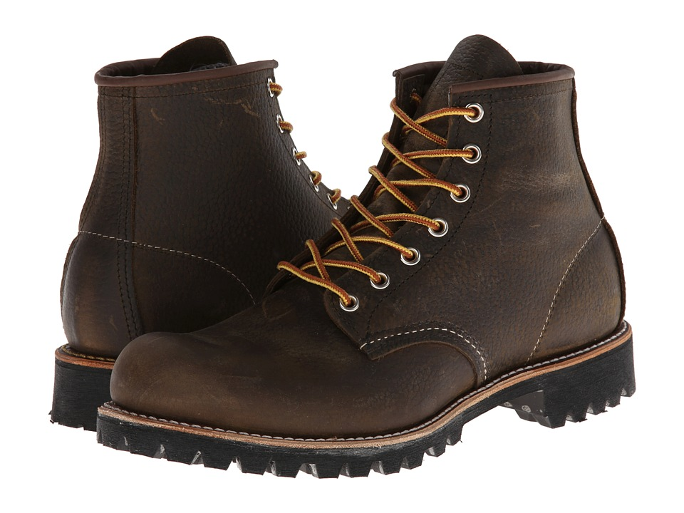 Red Wing Heritage - 6 Round Toe Lug (Olive Brown Roughneck) Men's Lace-up Boots