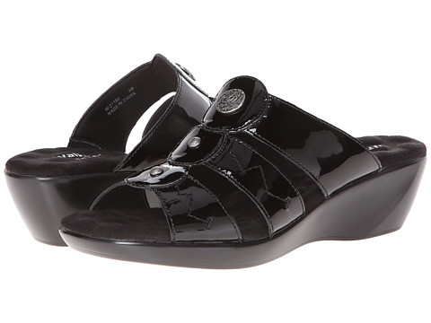 Walking Cradles - Call (Black Patent) Women's Sandals