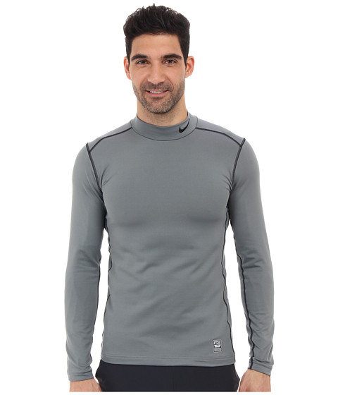 Nike - Hyperwarm Dri-Fit Fitted Mock 2.0 (Cool Grey/Black/Black) Men's Long Sleeve Pullover