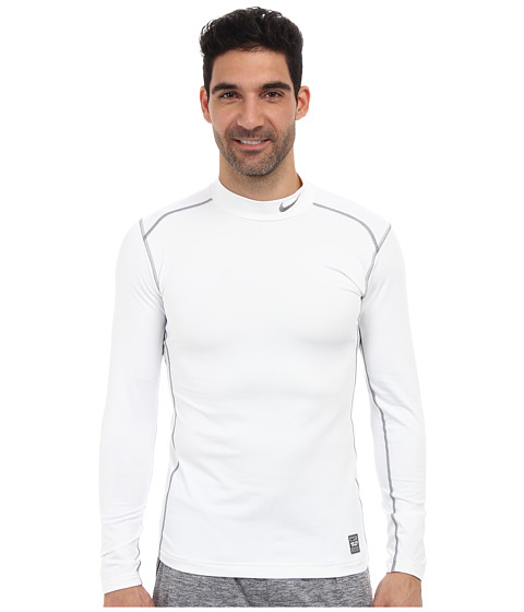 Nike - Hyperwarm Dri-Fit Fitted Mock 2.0 (White/Cool Grey/Cool Grey) Men's Long Sleeve Pullover