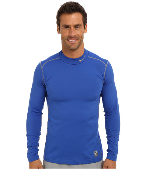 Nike - Hyperwarm Dri-Fit Fitted Mock 2.0 (Game Royal/Cool Grey/Cool Grey) Men