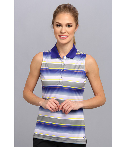 Oakley - Vera Stripe Polo (Spectrum Blue) Women's Sleeveless
