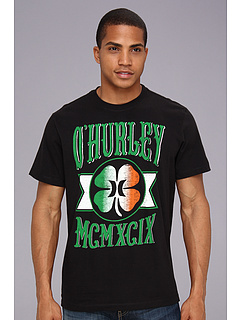 SALE! $16.99 - Save $8 on Hurley Green Leaf Premium Tee (Black) Apparel - 32.04% OFF $25.00