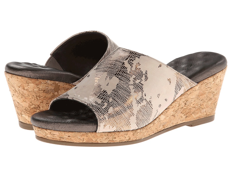 Walking Cradles - Arias (Light Taupe Viper) Women's Wedge Shoes