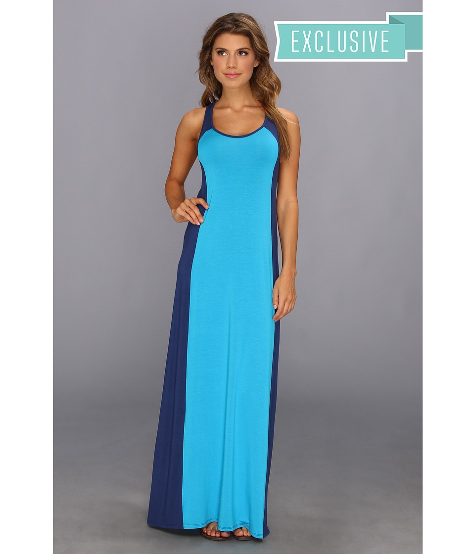 Michael Stars Colorblock Maxi Dress (Riptide/Aquatic) Women